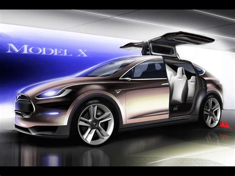 Z Tesla 2012 Tesla Model X Sketch 1920x1440 Wallpaper