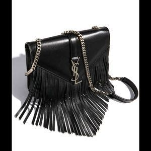 yves saint laurent bags monogram small fringe shoulder