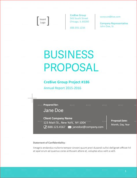 fresh proposal cover page formal letter