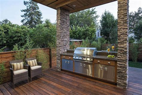 terrace on outdoor kitchens barbecue and