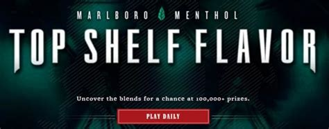 Marlboro Instant Win - marlboro menthol top shelf flavor instant win game
