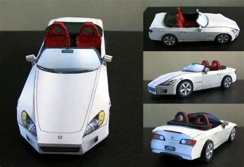 Papercraft Honda - honda s2000 paper car ver 3 free vehicle paper model