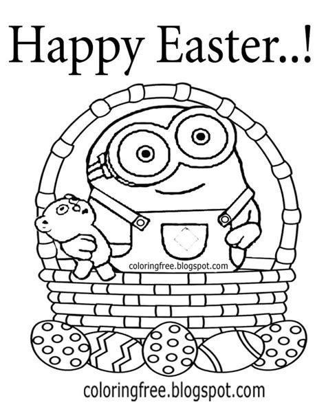 Minion Easter Coloring Page | free coloring pages printable pictures to color kids