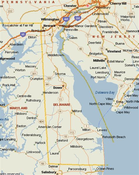city map of delaware delaware map