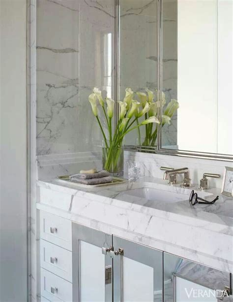 Veranda Magazine Bathrooms by A Master Bath Sheathed In Marble Veranda Magazine
