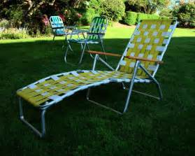 Mid century aluminum chaise lounge folding lawn chair by jbhoffman