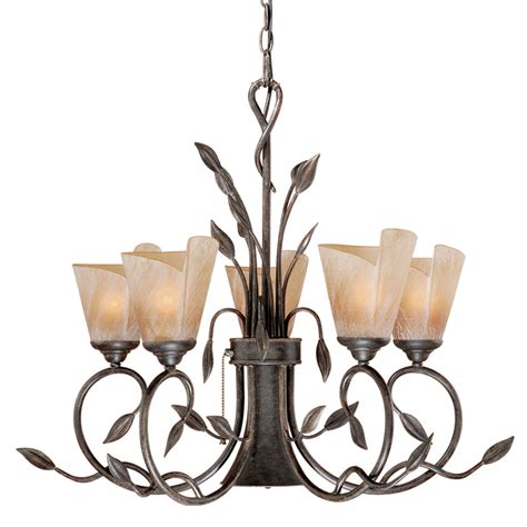 Downlight Chandeliers Rustic Chandeliers Chandelier With Downlight With 6 Lights Black Forest Decor