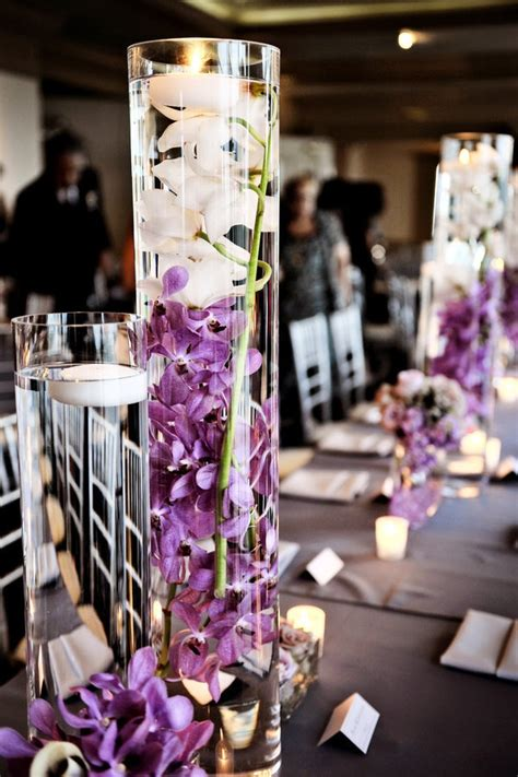 purple and gray wedding centerpieces best 20 plum wedding centerpieces ideas on
