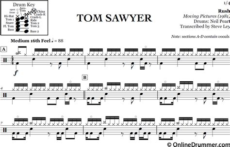 sultans of swing drum sheet music tom sawyer rush onlinedrummer com