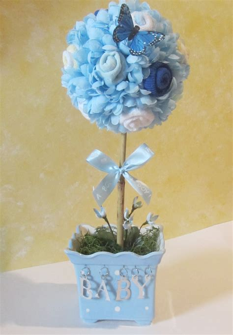 Baby Topiary Baby Shower Centerpiece Baby Boy Shower Baby Centerpiece For Baby Shower