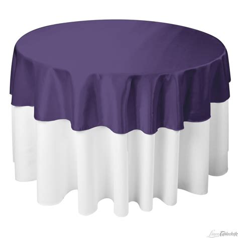 70 inch round satin tablecloth purple wedding reception