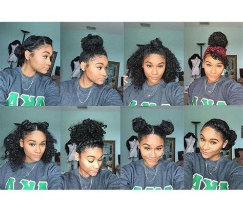 quick and easy hairstyles for kinky hair 8 bun styles for natural curly hair ig kharissa