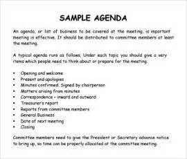 20 meeting agenda templates word excel pdf formats