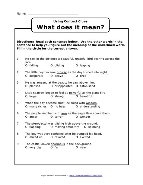 Synonyms And Antonyms Context Clues Worksheets by Synonym Context Clues Worksheets Abitlikethis