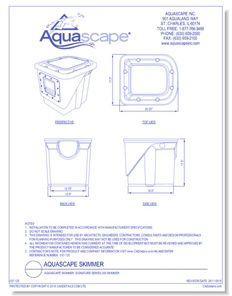 aquascape  site products cad drawings caddetailscom