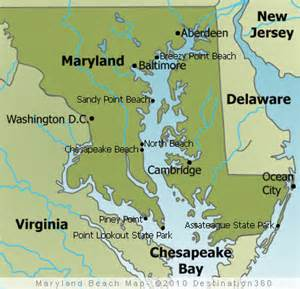 us map beaches maryland beaches map maryland map
