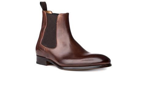 italian boots for chelsea boot in brown antique italian leather