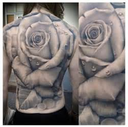black and white rose back tattoo tattoos pinterest