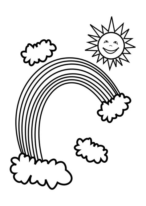 rainbow coloring pages printable free printable rainbow coloring pages for kids
