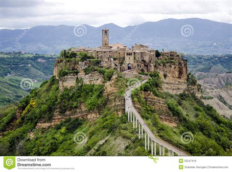 House Plans European civita di bagnoregio italy panorama stock image image