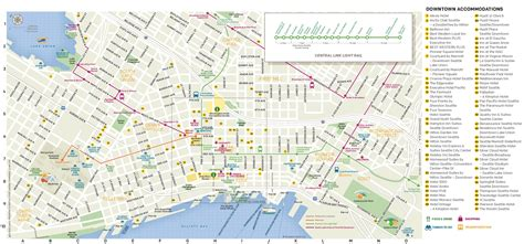 seattle map with hotels seattle hotel map