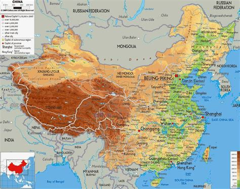 physical map of political physical maps of china free printable maps