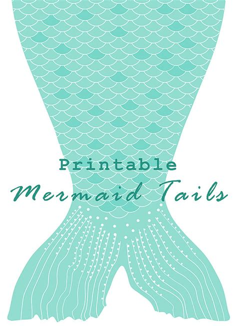 instant download printable paper mermaid tails by