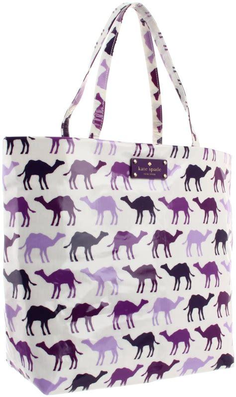 Kate Spade Daycation Bon Shopper kate spade new york daycation bon shopper tote in purple purple multi camel lyst