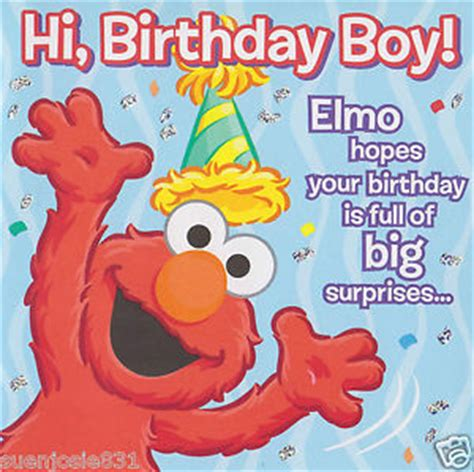 printable birthday cards elmo sesame street elmo happy birthday greeting card 1ct party