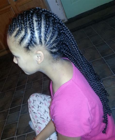 invisible cornrows hairstyles 74 best natural kids cornrow mohawk images on pinterest