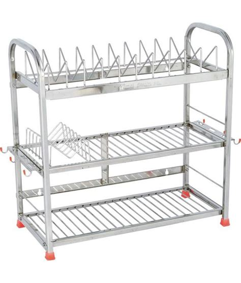 buy amol silver stainless steel kitchen rack at low