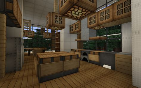 minecraft interior design kitchen modern house series 3 minecraft project