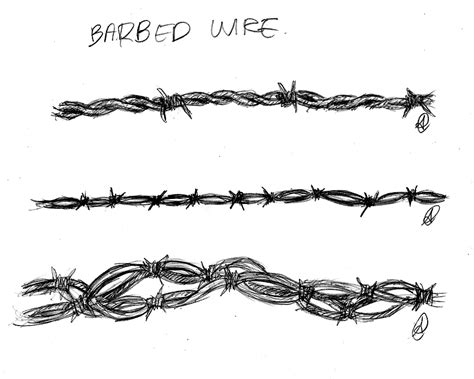 barbed wire tattoo sketch by bananahammock18 on deviantart