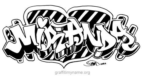 Charming Graffiti Coloring Pages #6: Miranda.png