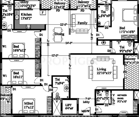 rosewood floor plan 3380 sq ft 4 bhk 4t apartment for sale in astro rosewood