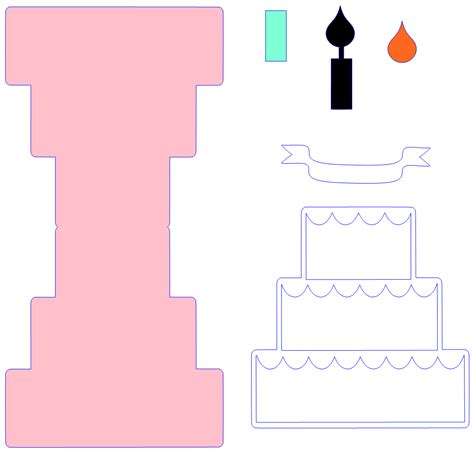 pop up cards cake printable templates craftiness tutorial thursday pop up birthday card