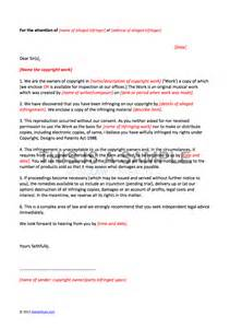 letter of claim template copyright infringement