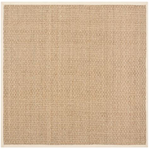 Square Area Rugs 9 X 9 Safavieh Fiber Beige 9 Ft X 9 Ft Square Area Rug Nf114a 9sq The Home Depot