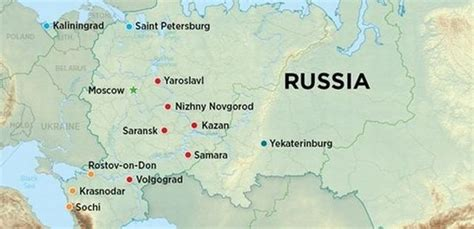 russia map with major cities russia map with major cities