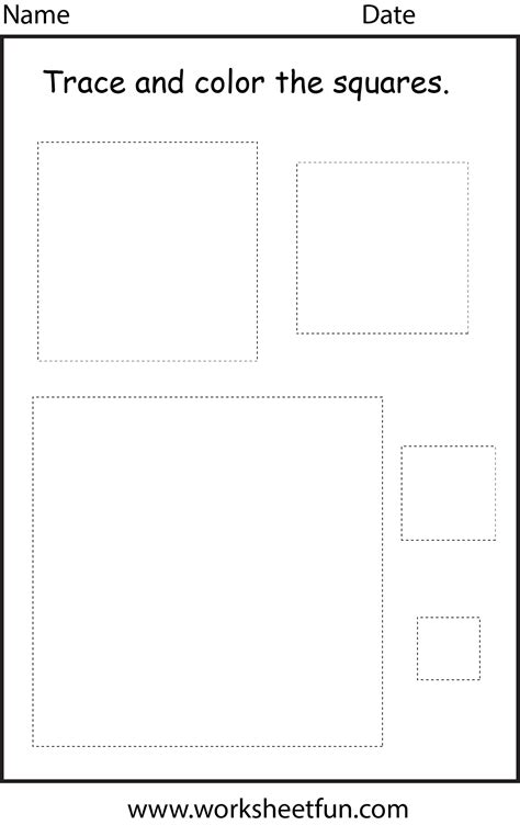 printable square shapes square tracing worksheet related keywords square tracing