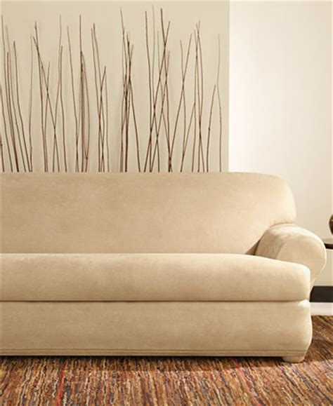 Faux Leather Sofa Covers Sure Fit Stretch Faux Leather Separate Seat T Cushion Sofa Slipcover Slipcovers For The Home