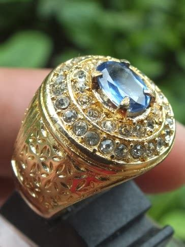 Batu Blue Kyanite Australia soldout blue kyanite ring kuning chrome toko permata