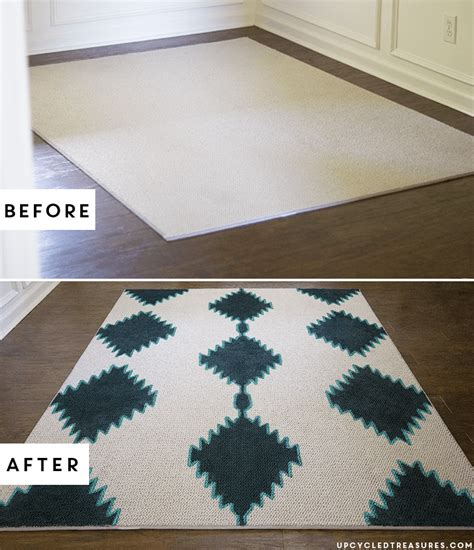 Rug Painting by Diy Painted Rug Inspired By West Elm Mind