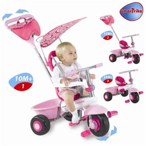 smart trike recliner stroller 4 in 1 pink smart trike recliner 4 in 1