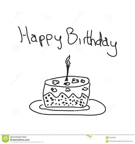 cake doodle free simple doodle of a birthday cake stock vector image