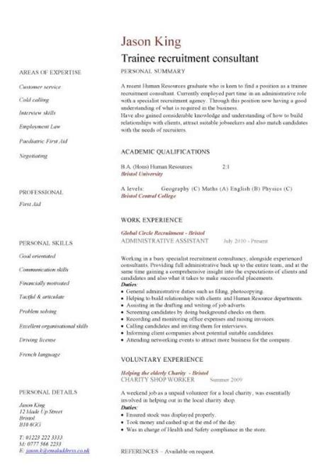 Sample Resume For Financial Analyst Entry Level