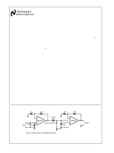 Lme49720 Ultra Low Distortion And Low Noise Dual Op lme49720 pdf资料下载 电子技术资料 电子数据表 ic pdf datasheet lme49720 datasheets manu nsc pdf datenblatt