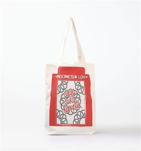 Tote Bag Canvas Segitiga Merah tote bag saya suka kerupuk merah by indonesia loh a tote