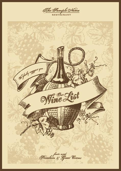design menu vintage elements of vintage menu cover design vector 02 vector