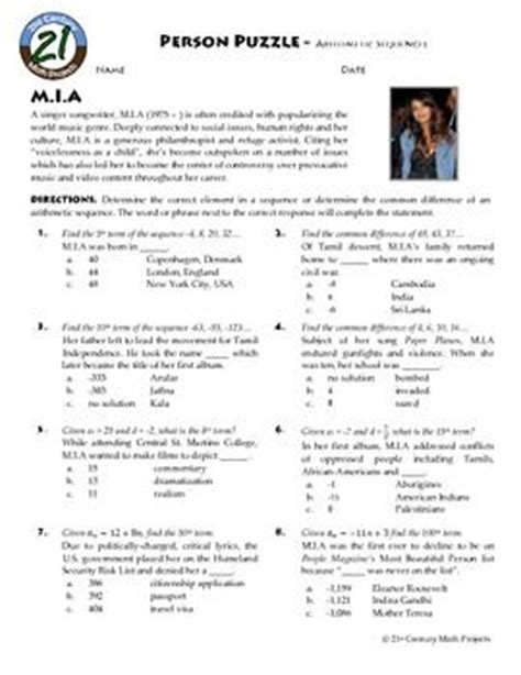 Arithmetic Sequence Practice Worksheet by Arithmetic Algebra And Worksheets On